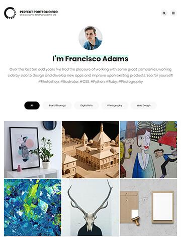 Perfect Portfolio Pro WordPress Theme