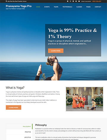 Pranayama Yoga Pro WordPress Theme