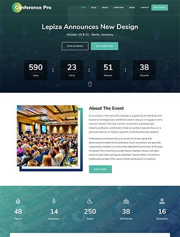 The Conference Pro WordPress Theme