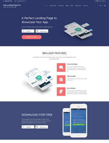 App Landing Page Pro WordPress Theme