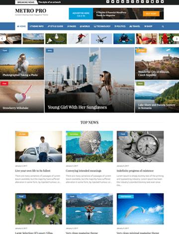 Metro Magazine Pro WordPress theme