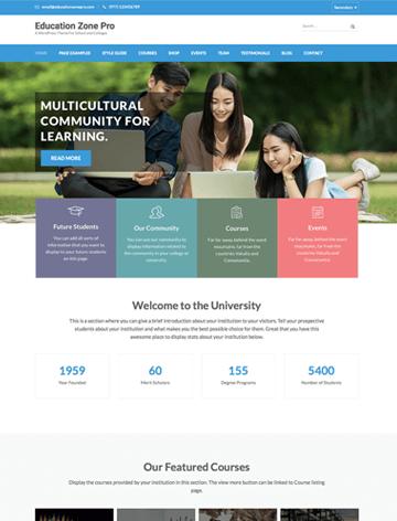 Education zone pro WordPress theme