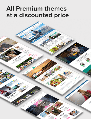 sales banner for all premium at a discounted price