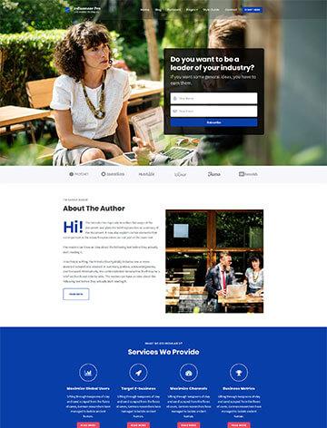 Influencer Pro WordPress Theme