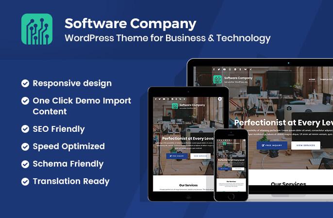 Software Company Free Wordpress Theme Rara Theme