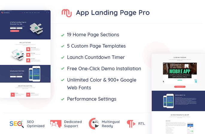 App Landing Page Pro Sale Banner